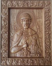 Резная Икона Дмитрий Донской